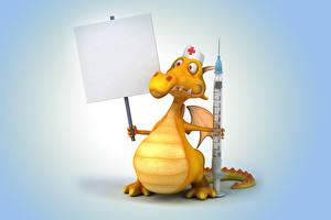 Обои Дракон Медсестры 3D Графика