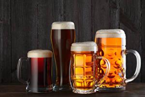 Картинки Напитки Пиво Кружка Стакан Пена Еда