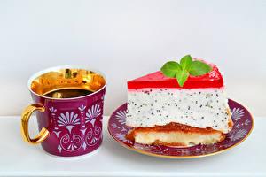 Фотография Напитки Пирожное Чашка Тарелка