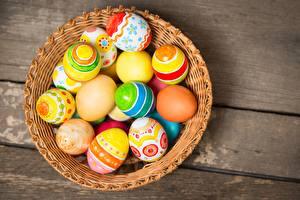 Картинки Пасха Яйца Корзина Пища