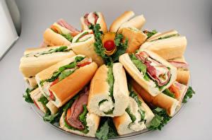 Картинка Быстрое питание Сэндвич Булочки