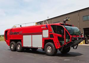 Фотографии Пожарный автомобиль Красный 2010-17 Oshkosh Striker 3000