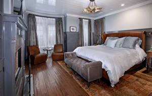 Обои Интерьер Дизайн Спальня Кровать Люстра Подушки