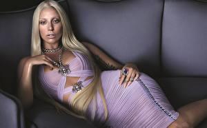 Фотографии Lady GaGa Блондинок Гламур Платья Знаменитости Девушки