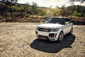 Картинка Range Rover Белый Vorsteiner Машины