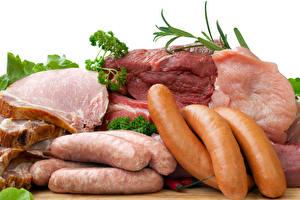 Фотография Мясные продукты Колбаса Сосиска