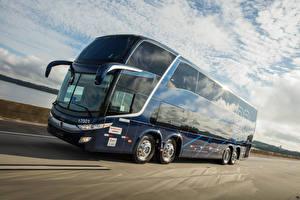 Фотография Мерседес бенц Автобус Движение O 500 RSDD 8×2 машины