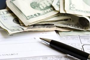 Фотография Деньги Доллары Крупным планом Шариковая ручка
