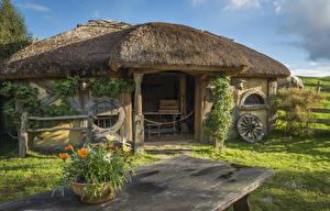 Фото Новая Зеландия Парки Здания Hobbiton Matamata Природа