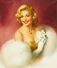 Картинки Картина Блондинка Улыбка Красивые Edward Runci Девушки