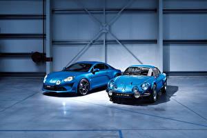 Фото Рено Голубой Двое 2017 Alpine A110 Premiere Edition Машины