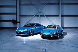 Фото Renault Голубой Два 2017 Alpine A110 Premiere Edition машина