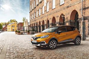 Картинка Renault Желтых Металлик 2017 Captur Worldwide машины