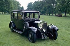 Картинка Rolls-Royce Ретро Черный 1930 20-25 HP Limousine by Hooper Машины