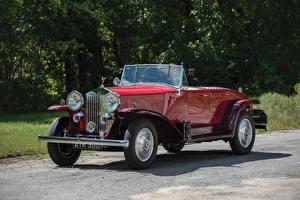Фотографии Rolls-Royce Ретро Красный Металлик Кабриолет 1934 20-25 HP Tourer by Barker Авто