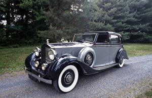 Фотография Роллс ройс Ретро Серый 1938 Phantom III Limousine de Ville by Arthur Mulliner Автомобили