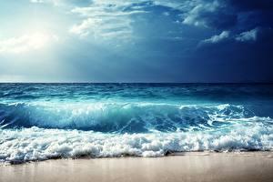 Фото Небо Море Волны Горизонт Природа