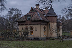 Фотографии Стокгольм Швеция Дома Особняк Дизайн Города