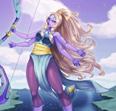 Обои Сверхъестественные существа Блондинка Фэнтези Девушки картинки