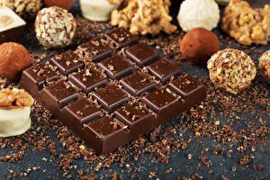 Обои Сладости Шоколад Конфеты Шоколадная плитка Еда