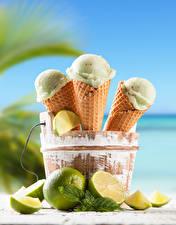 Картинка Сладости Мороженое Лайм Ведро