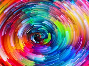Картинки Текстура Абстракции Окружность Разноцветные
