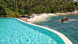 Фото Таиланд Тропики Побережье Камень Пляж Ko Samui