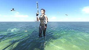 Картинки Tomb Raider Underworld Вода Лара Крофт Красивые Игры Девушки