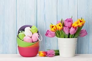 Фото Тюльпаны Пасха Яйца Цветы