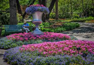 Обои Штаты Парки Журавельник Техас Дизайн Dallas Arboretum Природа