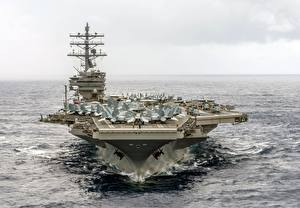 Фото Авианосец Корабль Американский USS Ronald Reagan CVN-76