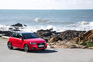 Обои Audi Красный TFSI Sportback 2014 S line Автомобили картинки