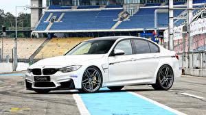 Обои BMW Белый 2015 G-Power F30 Автомобили картинки