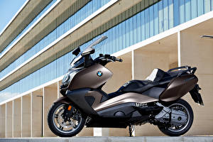 Картинка BMW - Мотоциклы Мотороллер Сбоку 2012-16 C 650 GT