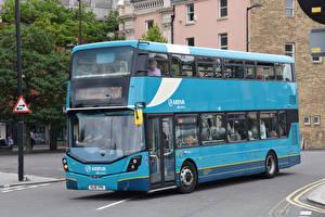Картинка Автобус Голубой Авто