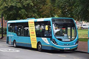 Картинки Автобус Голубой Автомобили