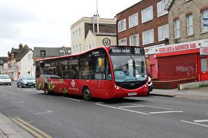 Фото Автобус Красный Машины