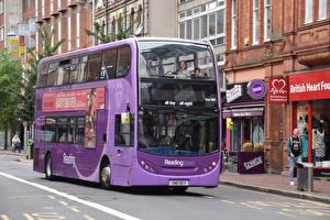 Обои Автобус Фиолетовый Авто