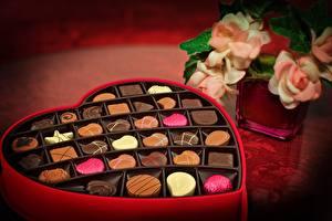 Обои Конфеты Шоколад Коробка