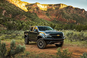 Картинки Chevrolet Металлик 2017 Colorado ZR2 Crew Cab Авто