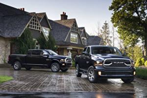 Обои Додж Черный Вдвоем Металлик Пикап кузов 2018 Ram 2500 Limited  Tungsten Edition Автомобили