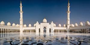 Фото ОАЭ Мечеть Башни Abu Dhabi, Sheikh Zayed Mosque город
