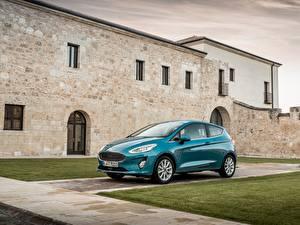 Картинки Ford Салатовый Металлик 2017 Fiesta Titanium 3-door Worldwide Автомобили