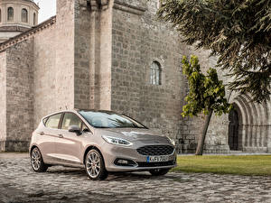 Обои Ford Металлик 2017 Vignale Fiesta 5-door Worldwide