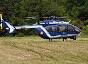 Картинки Вертолеты Синий EC-145 B - F-MJBI Gendarmerie