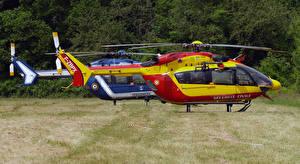 Фото Вертолеты 2 Сбоку Eurocopter EC-145 Авиация