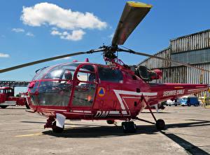 Фотография Вертолеты Бордовый SA 316B Alouette III C