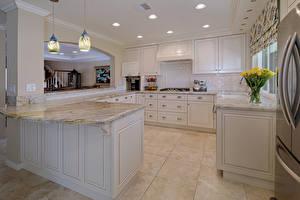 Фото Интерьер Дизайн Кухня Лампа Потолок