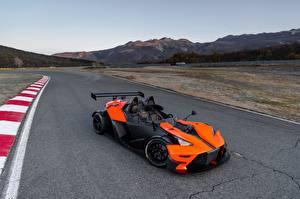 Обои KTM Автомобили Оранжевый Асфальта 2016 X-Bow RR машина