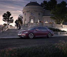 Картинка Lincoln Металлик Бордовые 2017 Continental машины